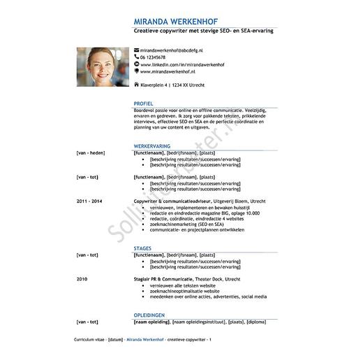 cv-sjabloon en sollicitatiebriefsjabloon Sterk en Stijlvol - tweederde lijn - Solliciteerbeter.nl